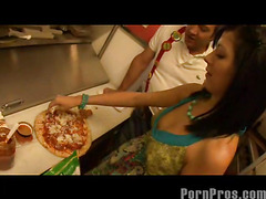 Smoking sexy and very taut eighteen year old Kenna Kane needs to earn a not many additional bucks to go to college. So that babe got a job at a pizza parlor and gets her tips blowing her manager's sausage! No Thing much the same as pounding more than just dough in the kitchen...