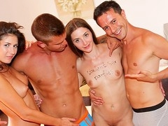 Vacation is the time to forget about college, but not college sex parties! Watch the sexy coeds go wild