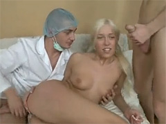 Gorgeous blonde puerile virgin sucking and getting gaped