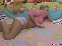 Olya sits in daybed in a pink sweater and pages throughout a soft-cover whilst this babe waits for her guy to show up. SheтАЩs horny and getting a little despairing for raunchy release. HeтАЩs the solely one that can bring her the joy that babe seeks! After awaiting too lengthy this pretty teenager pulls her pants off and masturbates, juicing up her fur pie for when this chab shows up. The muscular youthful guy lastly comes into the bedroom and out of saying praisefully this guy plays with her bawdy cleft, generating even more sloppy wetness down there so the two of 'em can truly engage in the bawdy play they dream of. SheтАЩs going to have great legal era teenager sex and that tanned and hairbreadth body looks to the nth degree sexy throughout. Her tummy is utter perfection! The sweater fetish fans will be delighted to know that that babe keeps it partially on throughout the set. The last position is her on top riding hard and that babe looks so great as that babe really bounces hard.