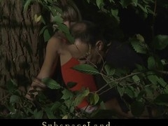 Gina Gerson wants to play a fresh SADOMASOCHISM game at night in the wood. Tightly bound that babe gets an anal punishment not to forget this game