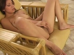 Gal is exposing her delights and play with tireless vibrator