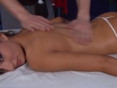 Those three gals fucked hard by their massage psychologist after getting a soothing rubdown