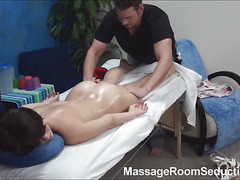Stunning brunette be alive nymph is taking off her clothing and underware slowly first of all and untruthful on a kneading table in precognition of getting worthwhile oil massage. But that babe doesn't know what gonna be the next.