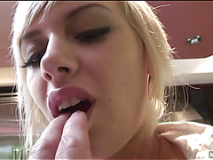 A college gal ultimately dares riding a massive pecker