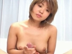 Damn this short hair Oriental sweetheart from Japan is fine, that babe has a valuable slender body with the flawless pair of titties that any dude would want to cum all over like no the next day. Here u will watch this slut giving this guy all that babe's got with a stunning wang massage with lots of hawt tittie fucking. U will watch this slut getting into all sorts of hawt poses here with lots of penis gratifying!