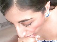 Sinless but nasty Arab legal age teenager sucks hard ramrod whilst rubbing her earthy cleft then gets her wet box fucked merely to finish by engulfing the cum from the wang and swallowing it.