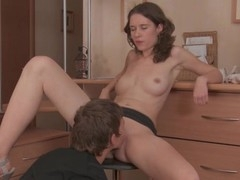 Stud can't live without to finger playgirl's cunt previous to hardcore fucking