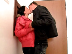Brunette cute babe sucking increased by procurement fucked unconnected with big cock
